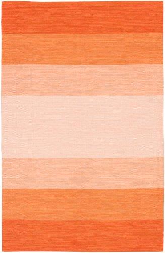 - Chandra Rugs India Orange Striped Rug Rug Size: 2' x 3'