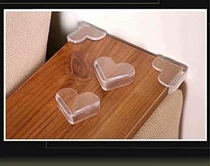 HANBIN seguridad para beb/és protector transparente 4 piezas protectores de esquina de mesa de cubierta Heart-shaped