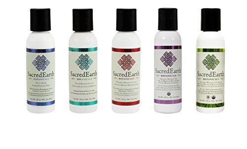 Organic Massage Gift Basket (Oil, Foot Cream, Lotion, Warming Lotion, Gel) (Massage Cream Sacred Earth)