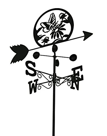 Butterfly and Flower Metal Weather Vane tf5428d