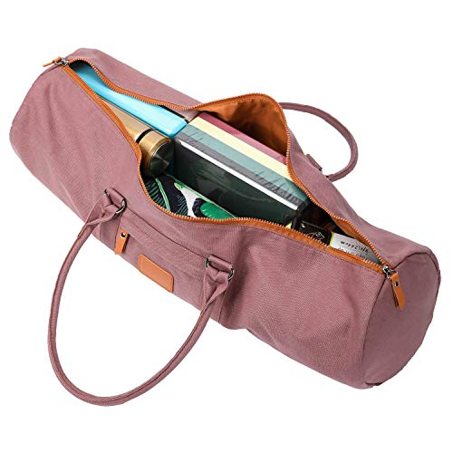Yoga Mat Yoga Bag Canvas Shoulder Bag with Large Side Pocket /& Zip Pocket by Onegenug
