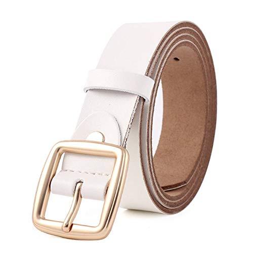Moda Ad Fibbia Metallo Ardiglione Femminile Accessori Abbigliamento Cinture Per Pelle White Zxmnsyd Donna Di In wfzq7fFT