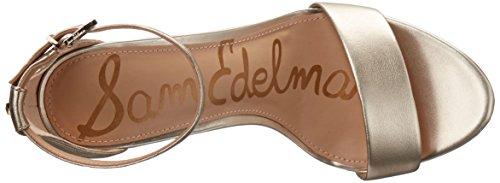 Jute Yaro Leather Oro Zeppa Sandali Donna Edelman Sam con Metallic wUpxTqSnZ