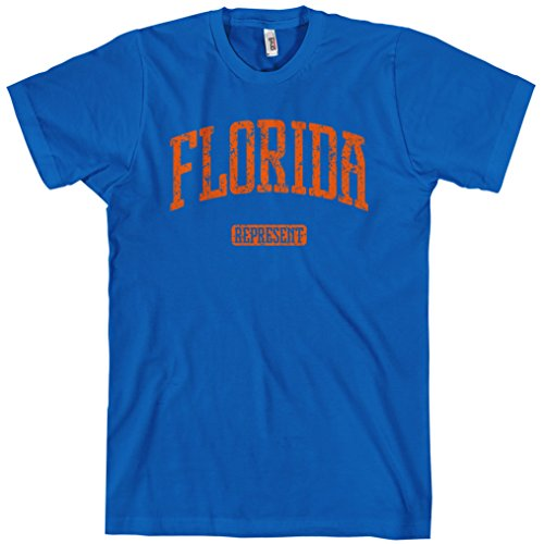 (Smash Transit Men's Florida Represent T-Shirt - Royal Blue, Medium)
