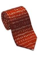 Josh Bach Men's Foreign Languages Silk Necktie Red, Made in USA