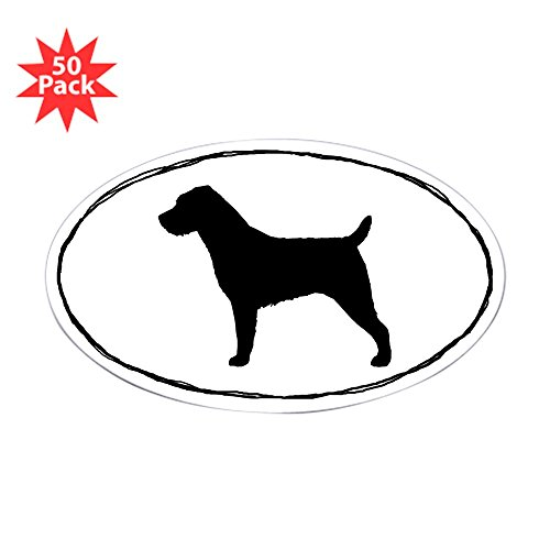 CafePress - Wire Haired Jack Russell Terrier Sticker (50) - Sticker (Oval 50 - Terrier Russell Jack Wirehaired