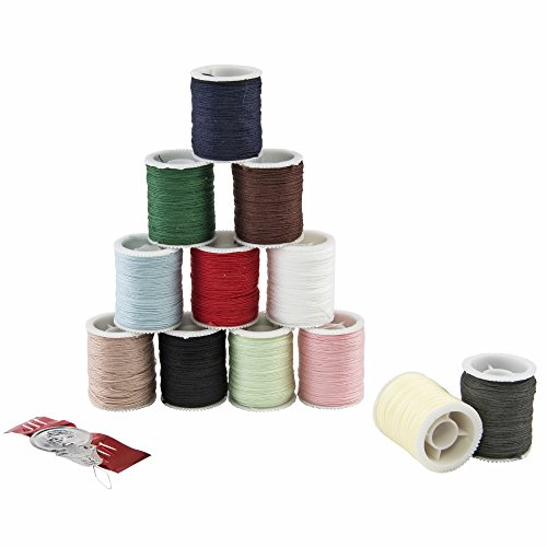 Singer Mercerized Cotton Hand Thread, Assorted Colors, 12 Spools (Assorted Thread 12 Spools)