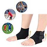 Ankle Support, Warm Ankle Brace, For Plantar Fasciitis, Achilles Tendonitis, Injury Recovery Joint Pain, Swollen Feet Socks, Foot Tendon Ligament Spurs Fractures Sprains, Ankle Protector(2PCS)