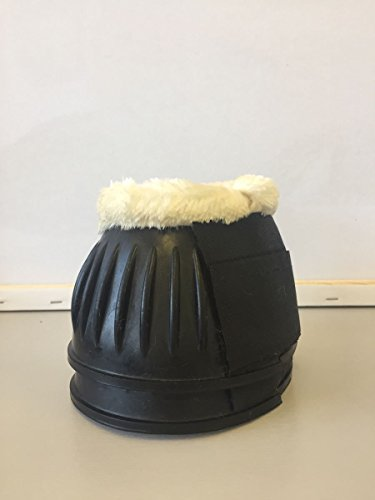 Rubber Horse Horse Equestrian Overreach New Stable Boots Black Riding White Lined Fur wq1YwEd
