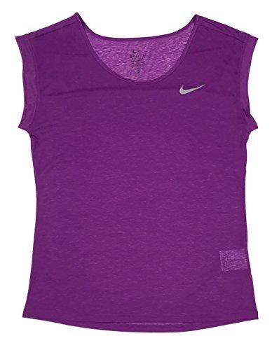 Nike Femmes Dri-fit Cool Breeze Running Shirt Noir / Blanc