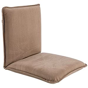 Sundale Outdoor Indoor Adjustable Soft-Brushed Polyester Cord Five-Position Multiangle Floor Chair, Tan