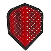 5 Sets of 3 Dart Flights - 4007 - Dimplex Red Standard Double Thick Dimpled Flights