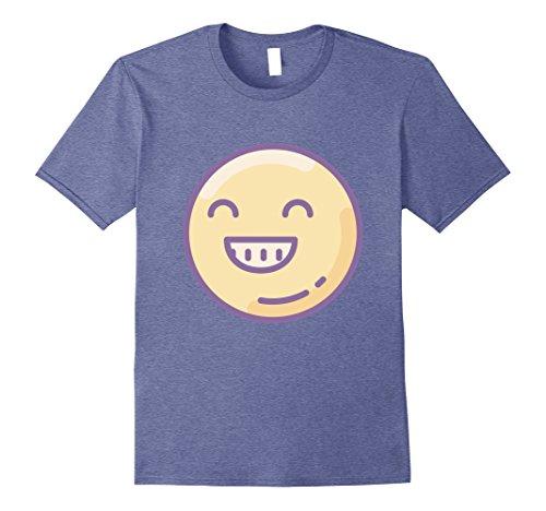 Womens Chubby Smiley Face Emoji Costume T-Shirt Medium Heather Blue (Chubby Costume)