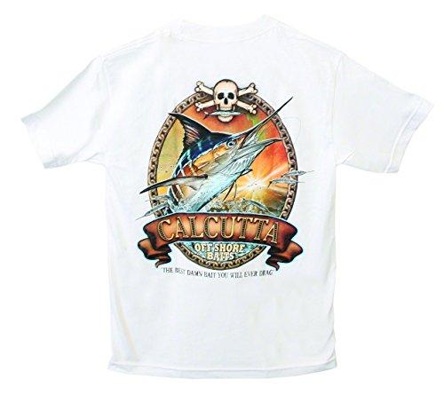 Calcutta Performance Short Sleeve T-Shirt with Old School Marlin Logo, (Calcutta Fishing Shirts)