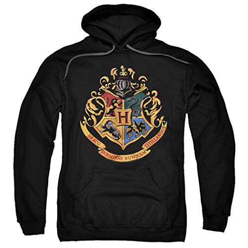 Popfunk Harry Potter Hogwarts Logo Pull-Over Hoodie Sweatshirt & Stickers (XXX-Large) ()