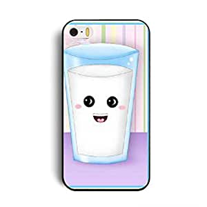 Elonbo TM Cute Milk Best Friends Lovers Couple Hard Back Case Cover Skin For Apple iPhone 5 5G 5S