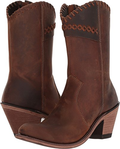 Old West Fashion Boots Womens Goodyear High Leather 9 M Brown 18154