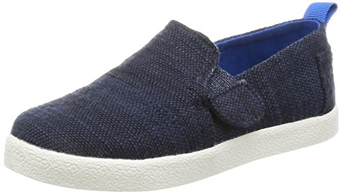 TOMS Kids Unisex Avalon Slip-On (Infant/Toddler/Little Kid) Navy Slubby Linen Loafer