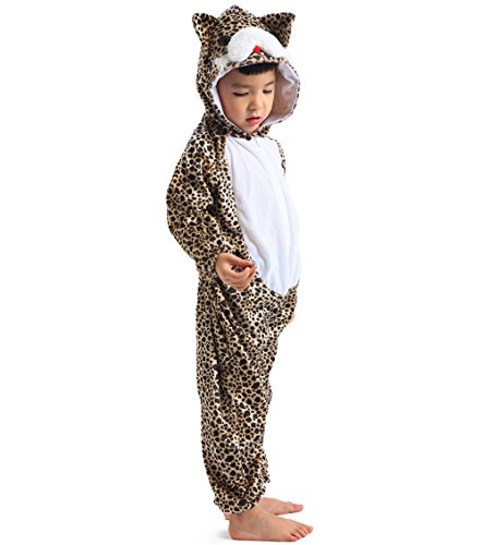 Astage Kids Animal Halloween Cosplay Onepiece Pajamas Outfit Homewear Robes Safari Costume ()