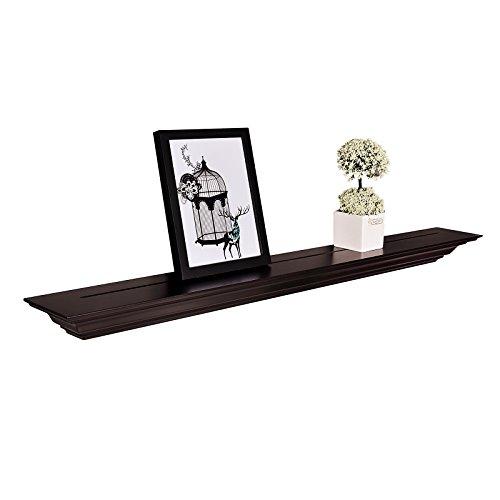- WELLAND Corona Crown Molding Floating Wall Photo Ledge Shelves Fireplace Mantel Shelf (36-Inch, Espresso)