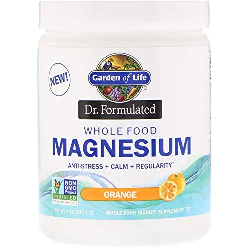 Garden of Life, Dr. Formulated, Whole Food Magnesium Powder, Orange, 7 oz (197.4 - Life Whole Food