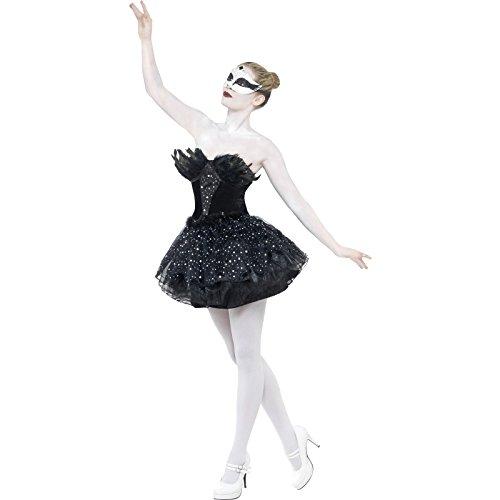 [Smiffy's Gothic Swan Costume, Black, Medium] (Biohazard Costumes)