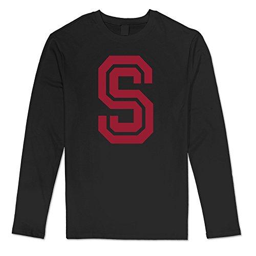 100% Cotton Men Stanford University Cardinal S Tshirts - Basketball Hall Set University On