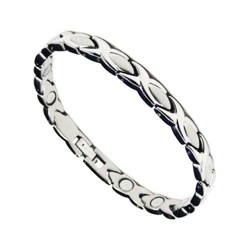 Kisses Magnetic Bracelet Jewelry - Accents Kingdom Hugs Kisses Magnetic Titanium Health Golf Bracelet T9 7.5