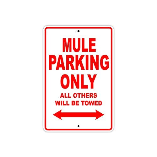 KAWASAKI MULE Parking Only All Others Will Be Towed Motorcycle Bike Super Bike Scooter Novelty Garage Aluminum 8