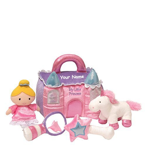 Personalized GUND My Little Princess Castle Plush Stuffed Baby Playset with Mini Plush Accessories