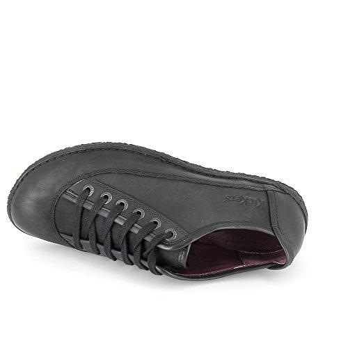 Kickers - Zapatos de cordones para mujer negro