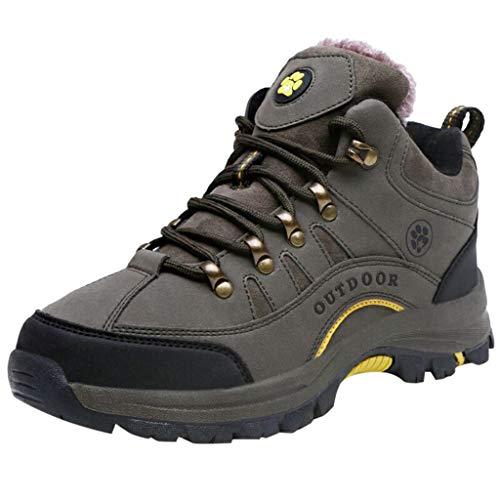 Women men Climbing Boots Sneakers Couple Plus Velvet Winter Non Slip Warm Cotton Shoes