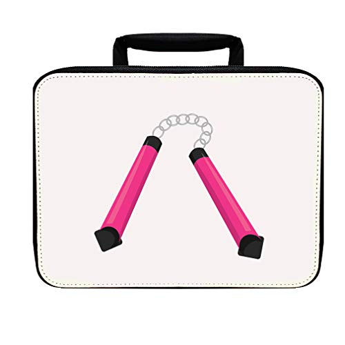 Nunchuck Pink Nylon Insulated Lunch Box Food -