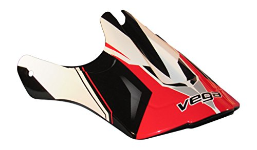 Vega Viper Jr Replacement Off-Road Helmet Visor with Stage Graphics (Red, One Size) - Graphic Replacement Visor