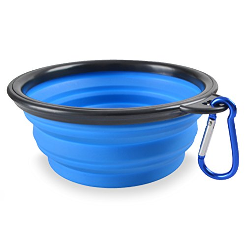 Meicent-MP-012-Portable-Collapsible-Dog-Bowl-Food-Grade-Silicone-BPA-Free-FDA-Approved-Foldable-Pet-Dish-For-Dogs-Cats-Small-Animals-Food-Water-Feeding-Travel-Bowl-with-Free-Carabiner-Clip