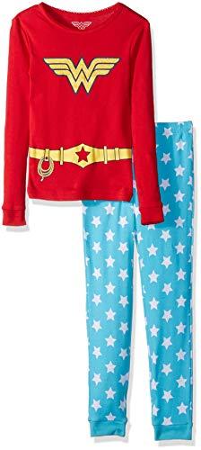 Wonder Woman Girls' Toddler 2 Piece Cotton Set, red 4T ()