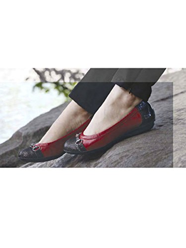 Central Black Women's Red Zig Flat Zig zag Park Napa Zag rFH0rn