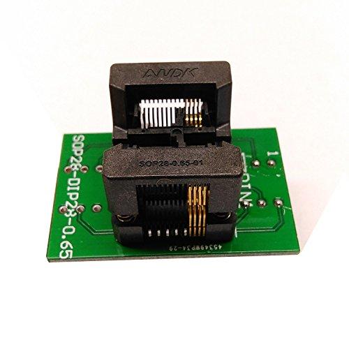 SSOP8 TSSOP8 to DIP8 Programming Socket Pitch 0.65mm IC Body Width 4.4mm 173mil Flash Test Socket Adapter