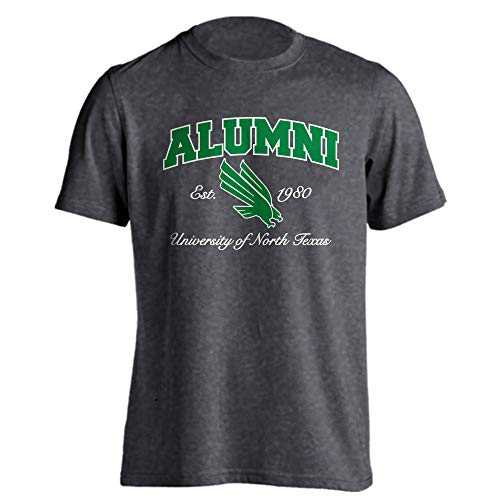 North Texas Mean Green Alumni T-Shirt (Charcoal Heather, XL)