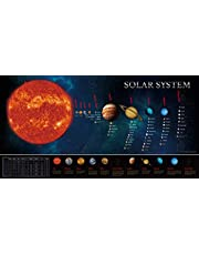 """Solar System Educational Teaching Poster Chart .Perfect for Toddlers and Kids. (Expanded Edition 30"""" X 15"""")"""