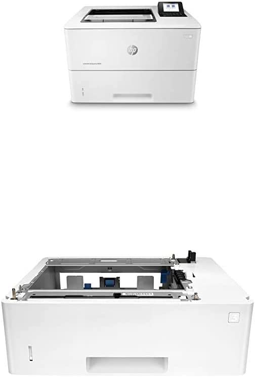 HP Laserjet Enterprise M507dn with One-Year, Next-Business Day, Onsite Warranty (1PV87A) with Additional 550-Sheet Feeder Tray (F2A72A), Compatible with Alexa