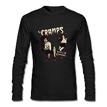 FUSHUO Men's The Cramps Long Sleeve T-shirt