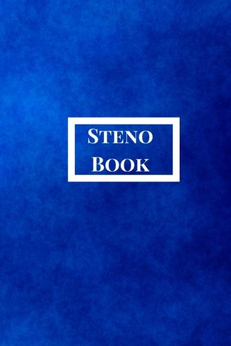 (Steno Book: Pitman Shorthand Book, Steno Notebook 6x9 for Steno Writing, Pitman Shorthand Writing, Teeline shorthand writing, 80 sheets/160 pages. Blue Theme)