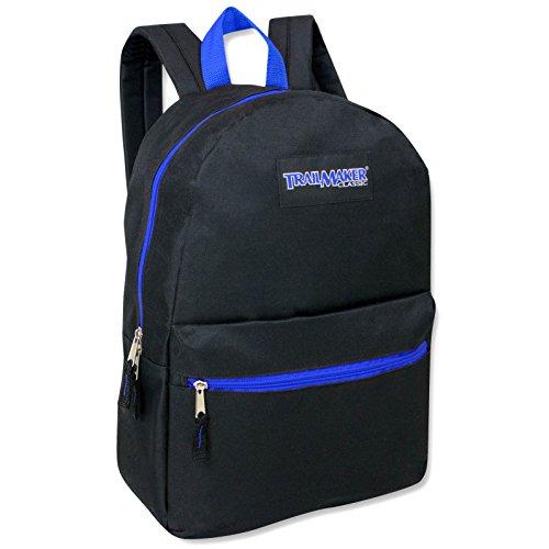 17'' Trailmaker Backpack Bookbag - blue zipper by Trail maker
