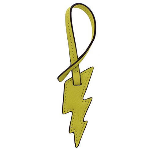 MICHAEL Michael Kors Womens Lighting Bolt Leather Charm Luggage Tags Yellow O/S ()