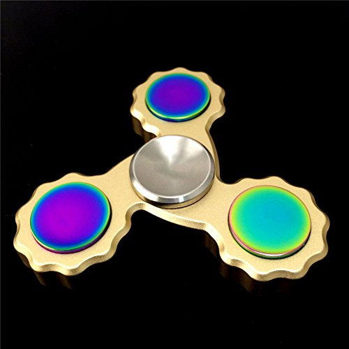 STRESS SPINNER Precision Torqbar Brass EDC Fidget Hand Spinner Toy with High Speed Hybrid Bearings (Gold 1)