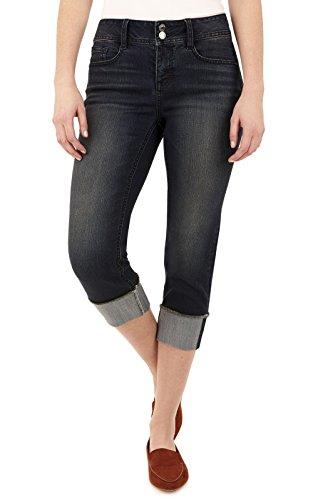 Angels Womens Embellished Cropped Jeans