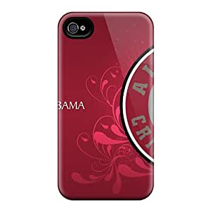 Shock-dirt Proof Alabama Crimson Tide Case Cover For Iphone 4/4s