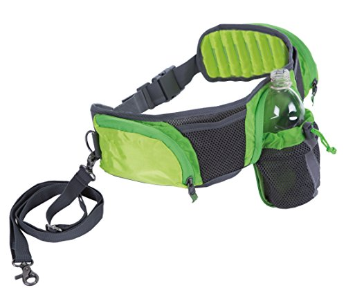 (Outward Hound Kyjen  23004 Hands Free Hipster Dog Leash Storage Accessory 5ft Leash Included, Green)