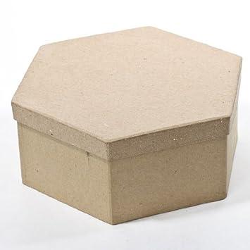 Papel maché Hexagonal cajas con tapas - Paquete de 4 cajas: Amazon.es: Juguetes y juegos